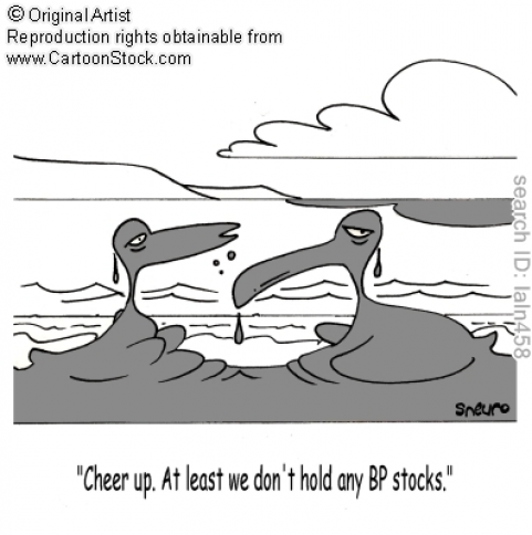 Oil spill comic